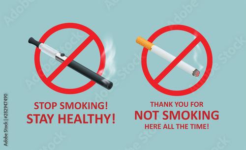 Stop smoking cigarettes concept Fototapet