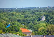 Landscape Of Green English Garden In Munich