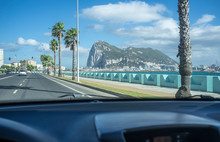 Arriving To The Gibraltar Border By Car
