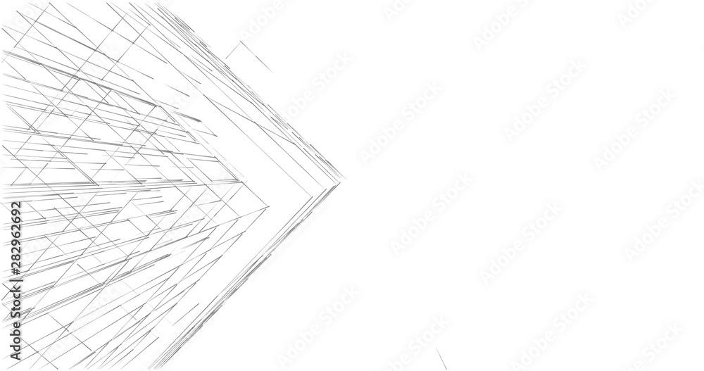 Fototapety, obrazy: city architecture sketch 3d illustration