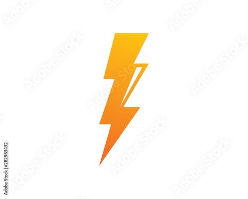 Obraz flash thunder bolt illustration vector - fototapety do salonu