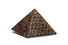 Pyramid Figurine Stands On A White Background