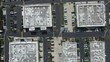 Aerial drone top down perspective over industrial complex in Torrance, California