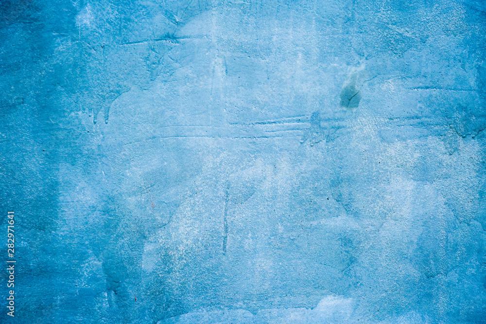 Fototapeta old cement blue wall