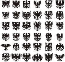 Heraldic Eagles Silhouettes