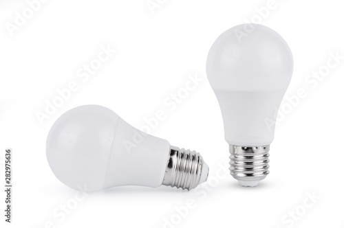 Obraz LED light bulb isolated on white background - fototapety do salonu