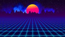 Background Retro 1980 , Sun Be...