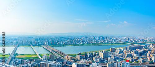 Obraz 大阪・都市風景・パノラマ - fototapety do salonu