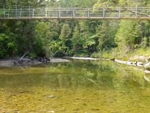 Pororai River Swing Bridge West Coast New Zealand