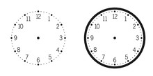 Wall Clock Isolated On White Background Vector Illustration