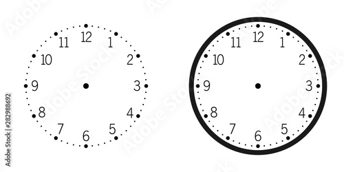 Fotografía  Wall Clock isolated on white background vector illustration