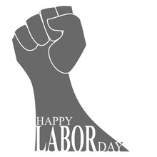 Happy Labor Day Background With USA Flag
