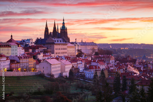 Photo sur Toile Europe de l Est Prague castle.