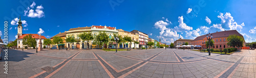 Foto auf Gartenposter Cappuccino Town of Sombor square and architecture panoramic view