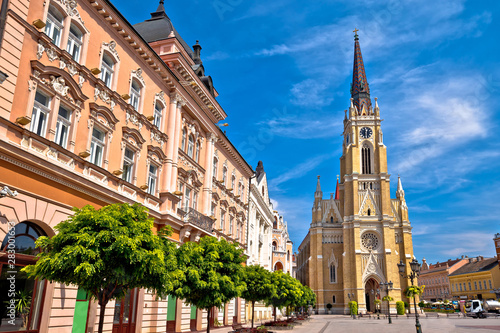 Obraz Novi Sad square and architecture street view - fototapety do salonu