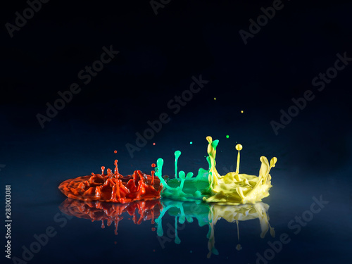 abstract background with colorful splashes - 283003081