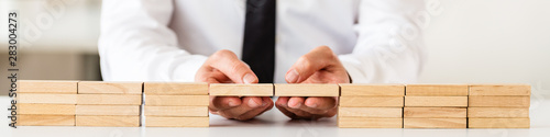 Canvas Print Conceptual image of business solution or merger