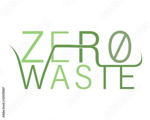 Fotografering  Zero waste logo - vector