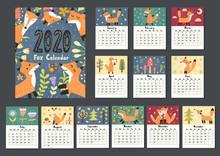 Awesome Fox Calendar For 2020 ...