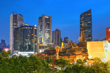 Jing'an Temple And Skyline, Sh...