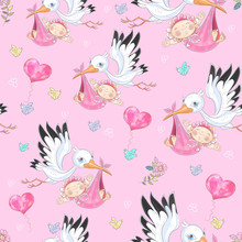Seamless Background For Baby G...