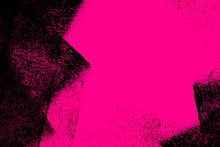 Black And Pink Paint Brush Strokes Background