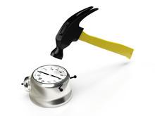 Hammer Hitting The Alarm Clock...