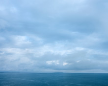 Seascape With Cloudy Sky Over ...