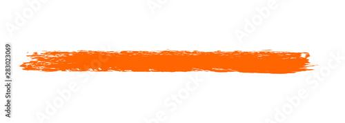 Fotografie, Obraz  Hintergrund Markierung rot orange - gemalt mit einem Pinsel