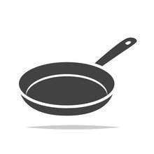 Frying Pan Icon Vector Isolated