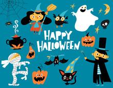 Vector Happy Halloween Card Wi...