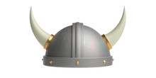 Viking Helmet With Horns Isola...