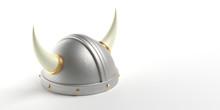 Viking Helmet With Horns Isola...