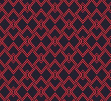 Japanese Red Black Geometric Seamless Pattern