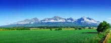 High Tatras, Slovakia. Scenic Landscape Of A Mountain Range On A Summer Day.