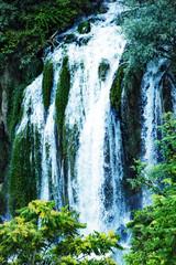 Panel Szklany Podświetlane Woda Krople Kravice waterfall on the Trebizat River in Bosnia and Herzegovina. Miracle of Nature in Bosnia and Herzegovina. The Kravice waterfalls, originally known as the Kravica waterfalls
