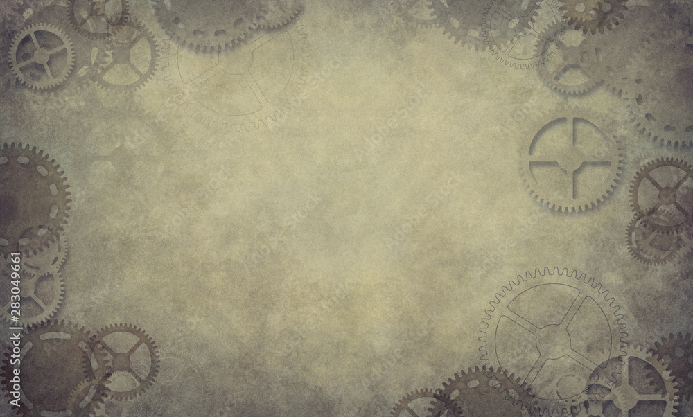 Steampunk grunge background texture