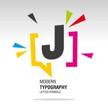 J Modern Typography Letter Sym...