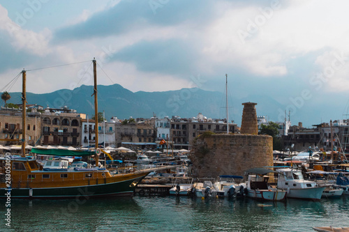 Garden Poster Cyprus Beautiful Kyrenia harbour, Northern Cyprus