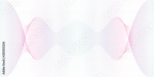 Photo  Light blue, purple symmetric guilloche