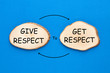 canvas print picture - Give Respect To Get Respect