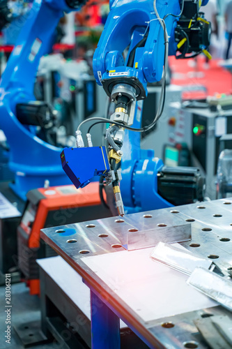 Recess Fitting India Welding robot in the process