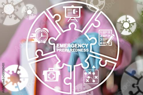 Fotografía Emergency Preparedness Checklist Plan Health Hospital Patient Evacuation concept