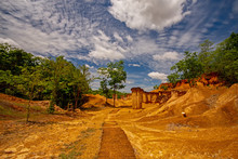 Phae Mueang Phi Forest Park, A Beautiful Design By Nature Scouring Of Rock And Stone At Phrae Province, Thailand.