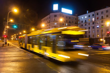The Motion Of A Blurred Bus On...
