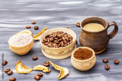 Canvas Prints Cafe Mushroom Chaga Coffee Superfood Trend.
