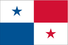 Panama Flag, Official Colors And Proportion Correctly. National Panama Flag