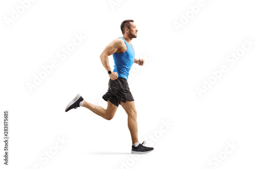Fotomural Young man jogging