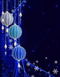 Christmas shining background New Year, silver balls, snowflake, fantastic blurred cloud and sky gradient, soft focus, glittering sparkling stars, curls, burning lights, dream. 3d rendering