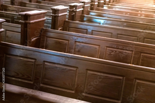 Fotografiet Cathedral benches